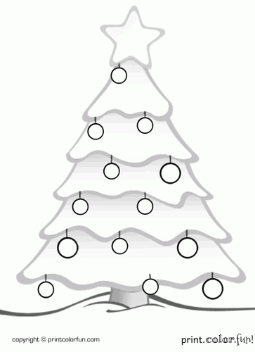 Christmas tree coloring page  Print Color Fun