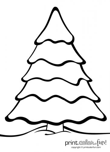Roll a Christmas Tree (Game &Printable) | Christmas tree coloring ... | 500x364