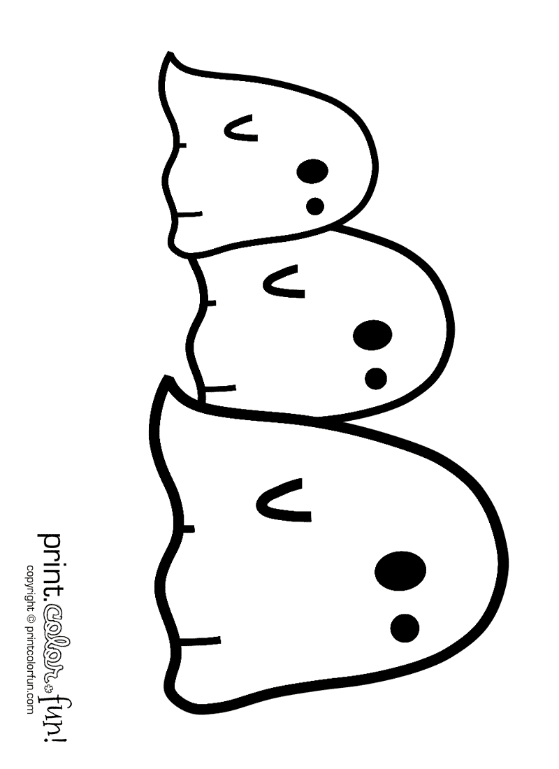 Have haunting fun with these ghosts coloring page - Print ...