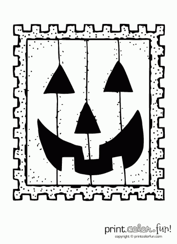 coloring halloween stamp