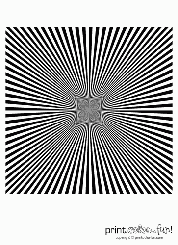 Optical illusions: Converging stripes