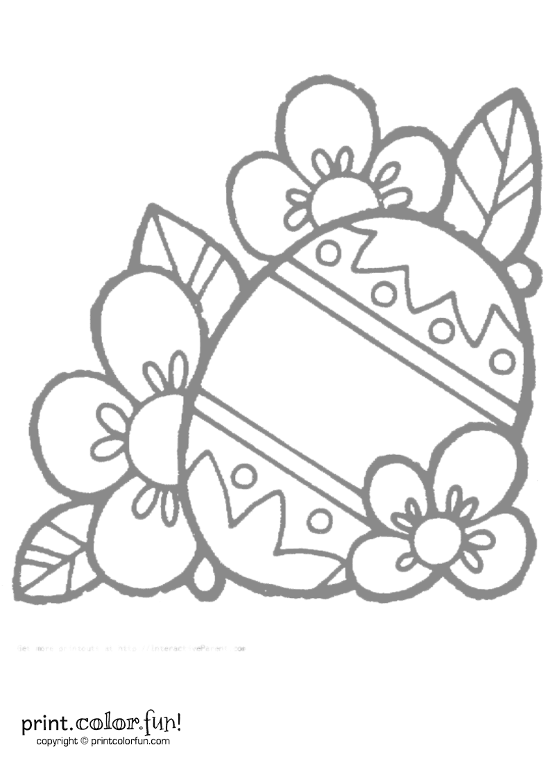 decorated easter egg coloring page print color fun