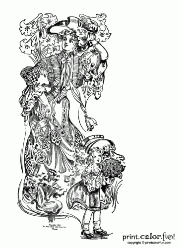 easter flowers 1908