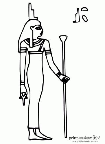 Egyptian goddess Isis coloring