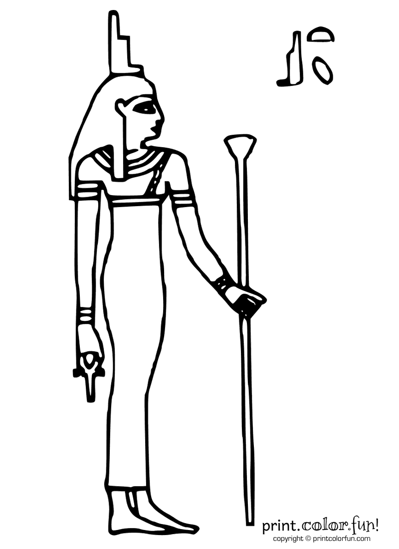 Free Coloring Pages Of Ancient Egyptian Animals