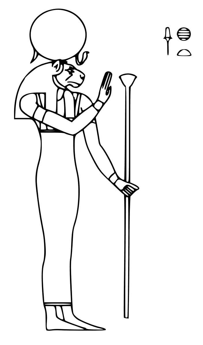 Egyptian Goddess Sekhmet Coloring Page