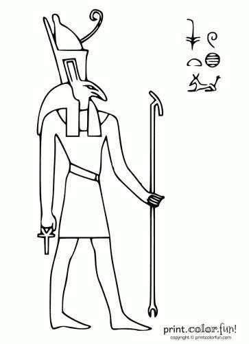 Egyptian God Seth Coloring Page Print Color Fun