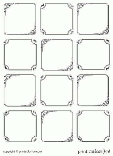 free coloring pages of blank gift tags