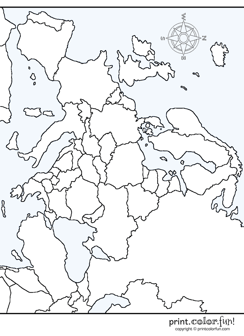 blank map of europe printable
