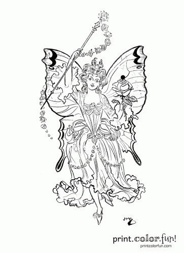 fairy princess - Fairy Princess Coloring Pages