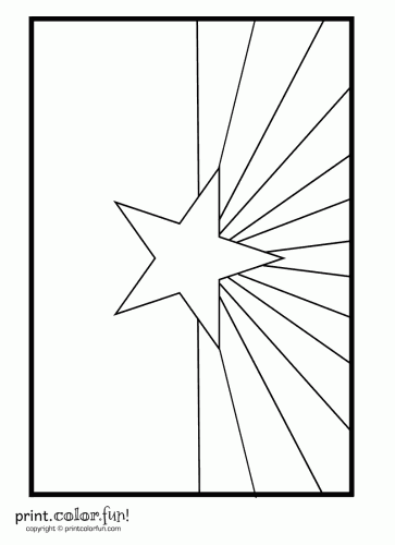 Arizona flag coloring page Print Color Fun