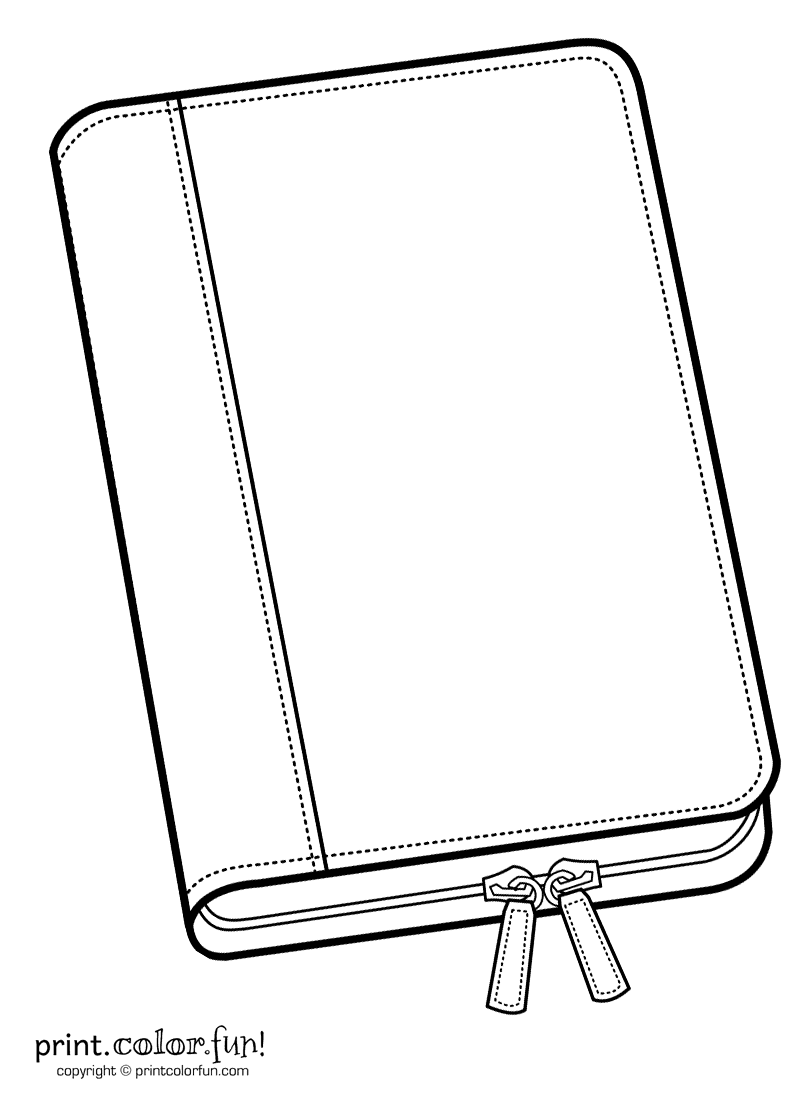 Folio Notebook Coloring Page