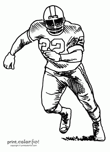 Football player coloring page - Print. Color. Fun!