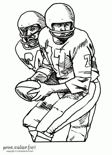 football players coloring page print color fun - Printable Sports Coloring Pages