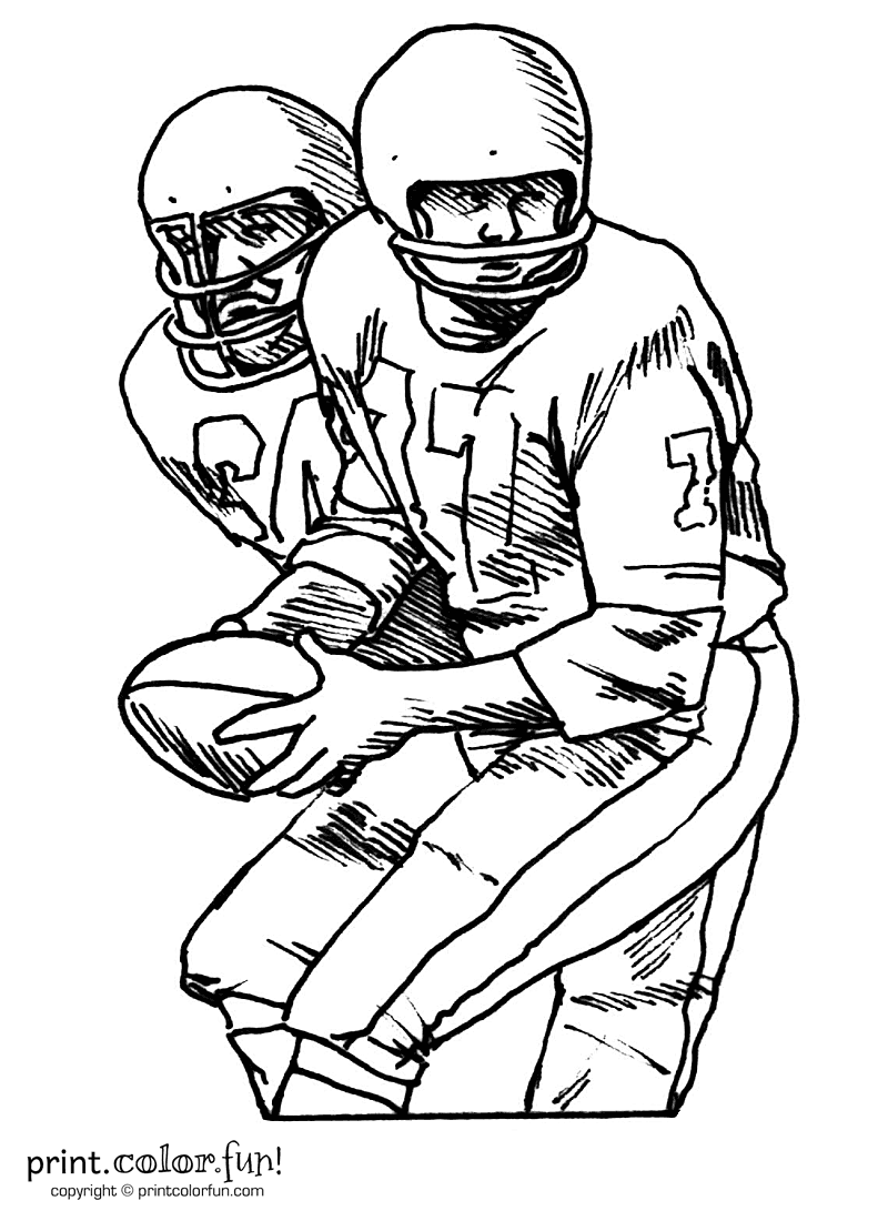 Football Coloring Pages Free Sports Printables Coloring Page