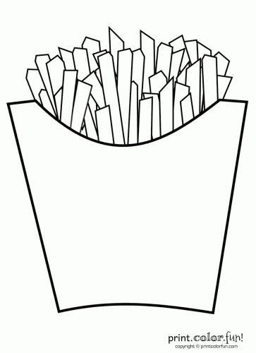 french fries coloring pages - photo#3