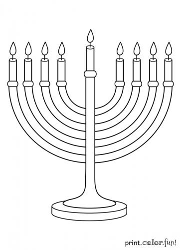 hanukkah-menorah-coloring-page