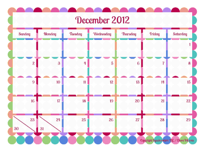 Blank calendar pages: Happy dots coloring page - Print. Color. Fun!