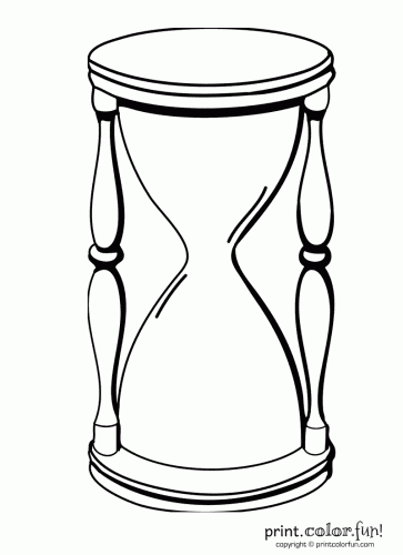 Hourglass Coloring Page Print Color Fun