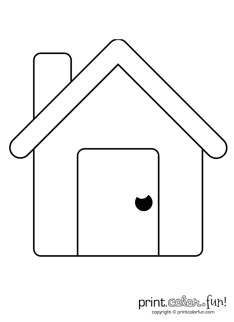 Simple House Coloring Pages Printable Coloring Coloring Pages - simple coloring pages to print