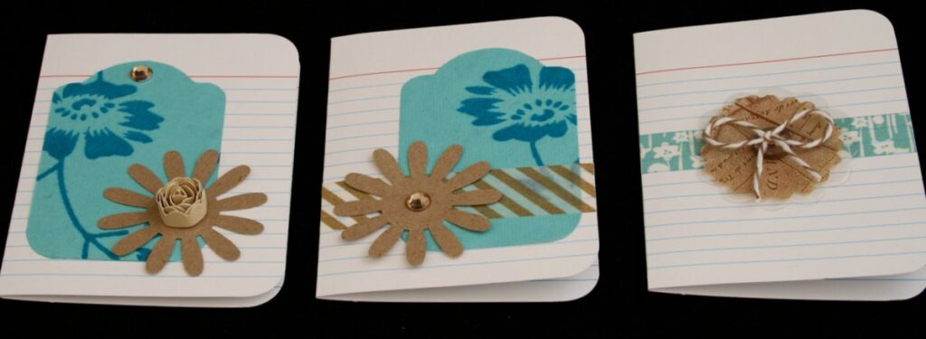 index card foldover note cards