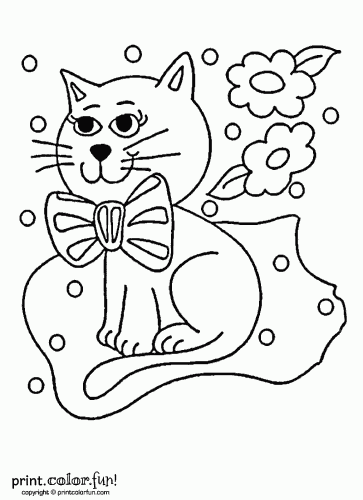 low ink version of this kitten to print