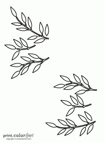 Leaf and stem stencils