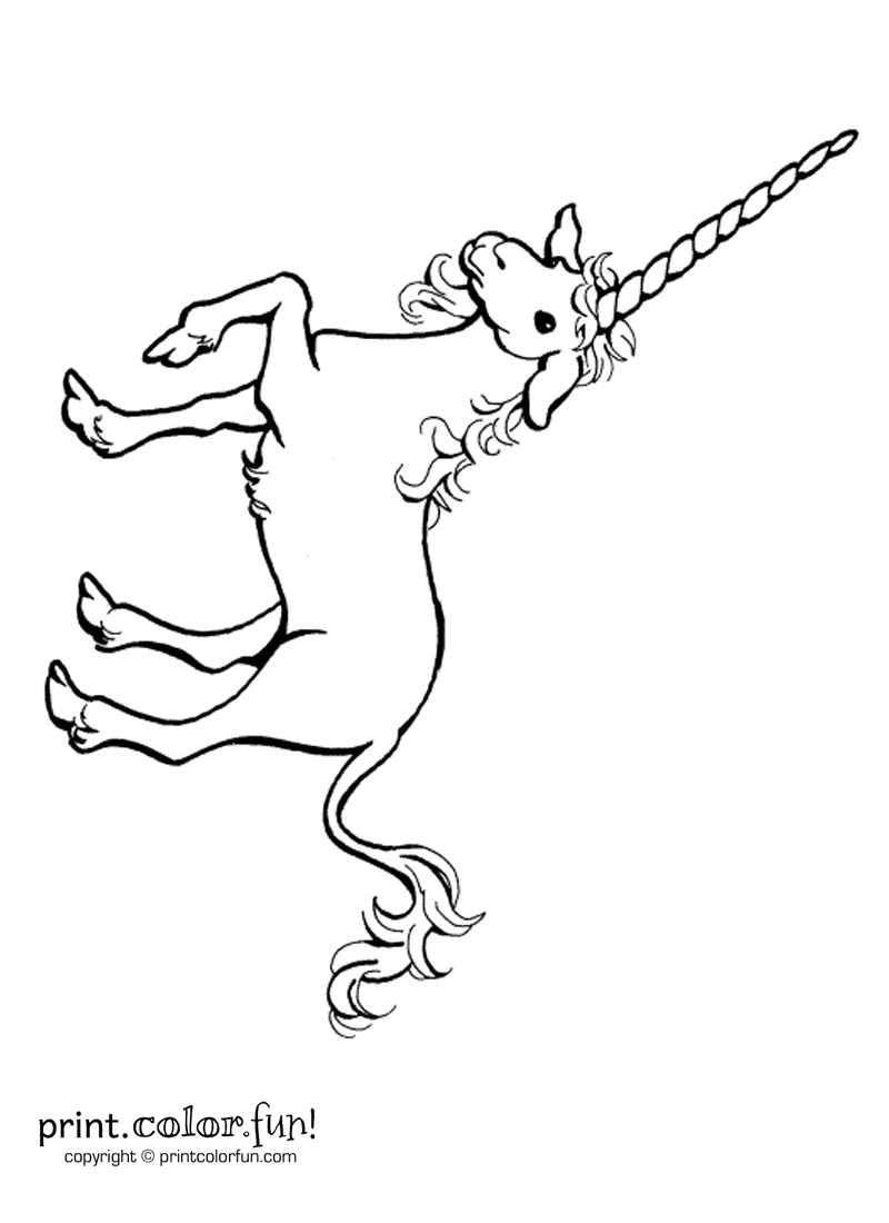 Longhorn unicorn coloring page