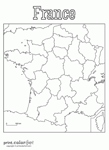 Map of france to print » Travel