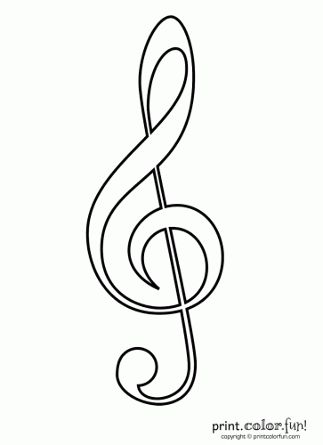 Color in this musical notation, a treble clef — also called a G clef ... Music Note Coloring Pages For Adults