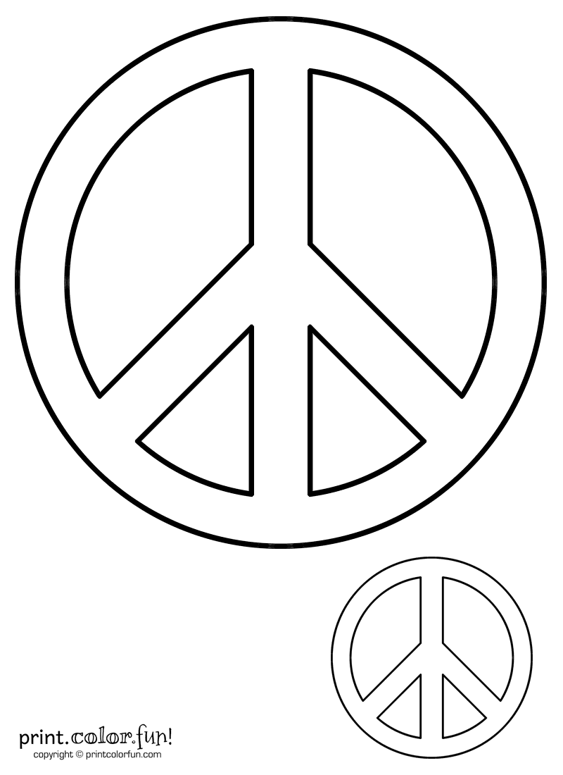 Peace Sign Coloring Page Print Color Fun Coloring Pages Of Peace Signs