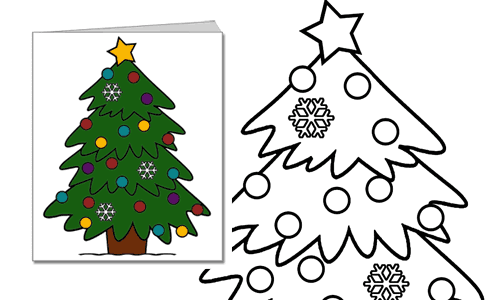Christmas Card Print Color Fun Free Printables Coloring Pages Crafts Puzzles Cards To Print