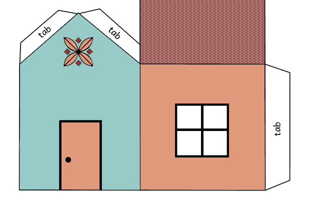 House cutout craft coloring page - Print. Color. Fun! Zoo Animals Toys
