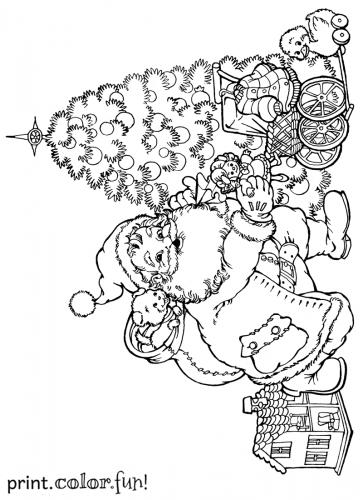 santa-christmas-tree-present-tree