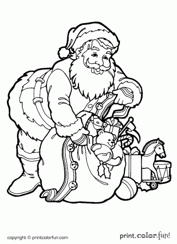 santa with a sack of toys