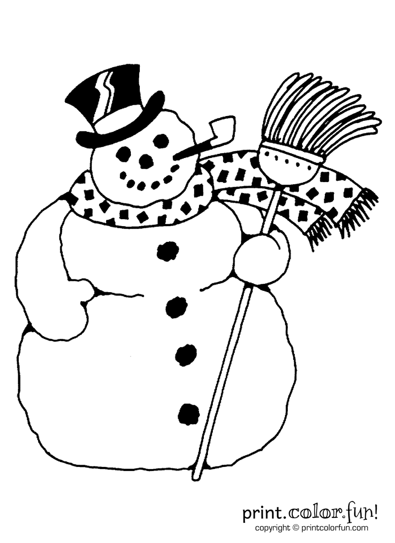 Snowman coloring page Print