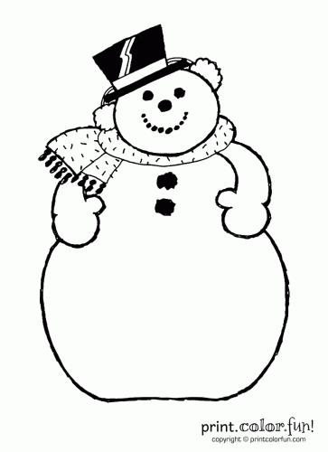 a snowman - Coloring Pages Snowman 2