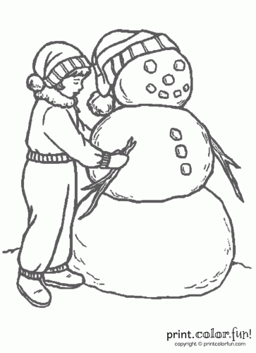 ... Making A Snowman. Fun Snowman