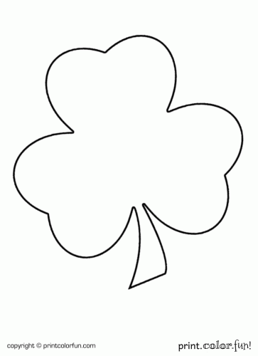 Shamrock for St Patricks Day coloring page Print Color Fun