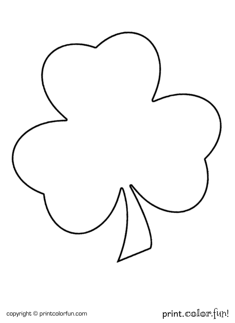 shamrock for st patrick u0027s day coloring page print color fun