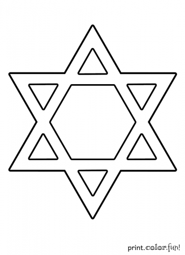 star-of-david-coloring-page