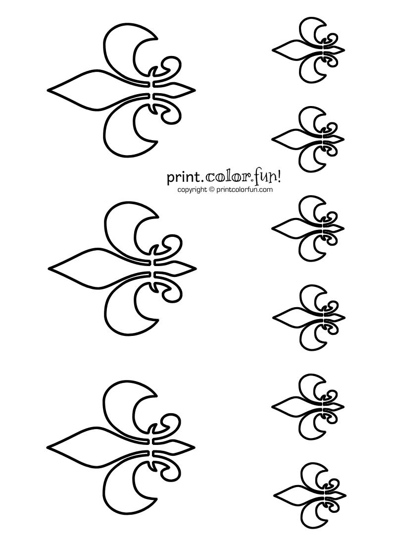 Stencils: Fleurs-de-lis - Print Color Fun!