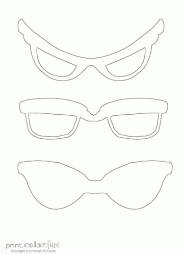 21+ Cut Out Sunglasses Coloring Page
