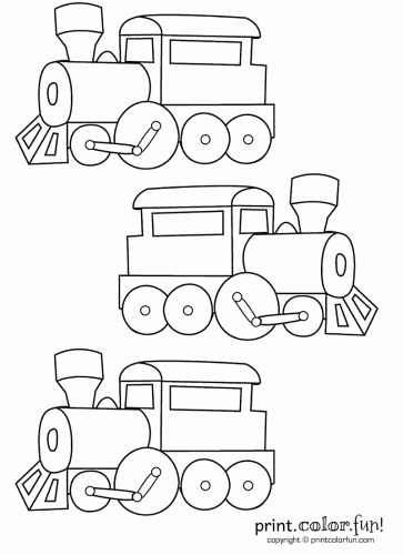 ps three trains print color - Train Pictures Print Color