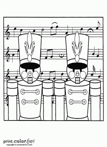 toy nutcracker soldiers for christmas coloring page print color fun. Black Bedroom Furniture Sets. Home Design Ideas