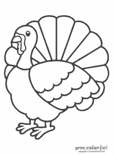 A cartoon Thanksgiving turkey