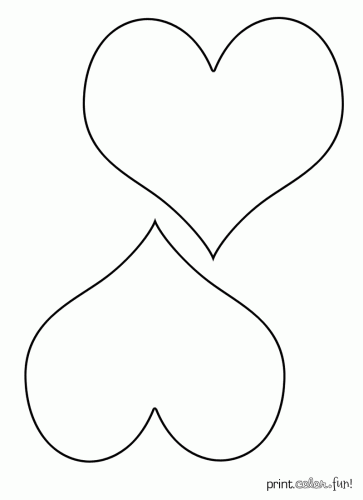 Heart Coloring Pages - GetColoringPages.com | 500x363