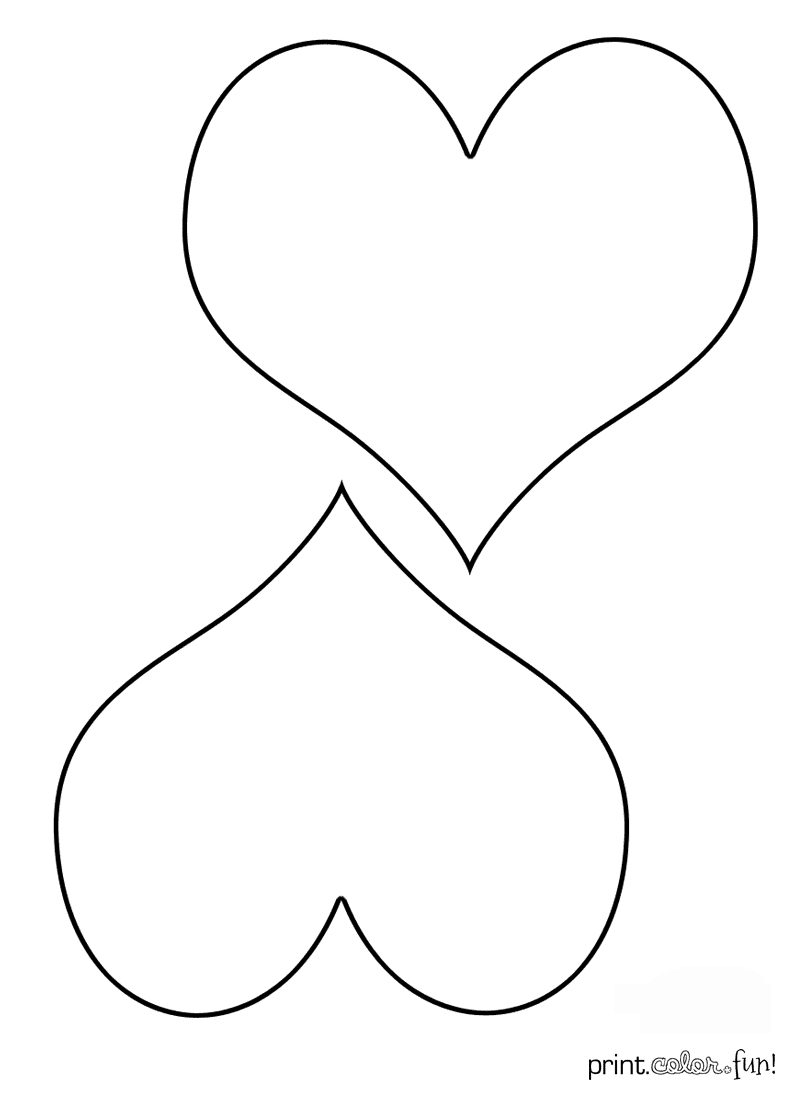 double heart coloring pages - photo#25