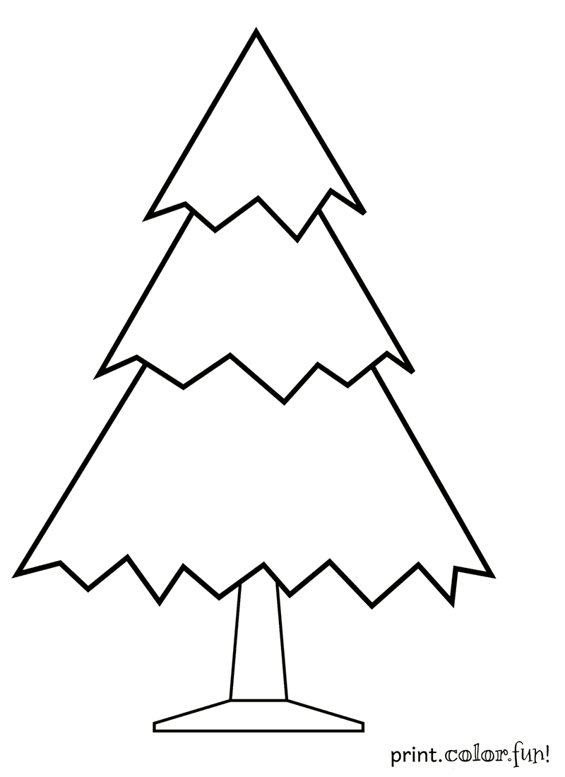 Kerstster Kleurplaat Undecorated Christmas Tree Coloring Page Print Color Fun
