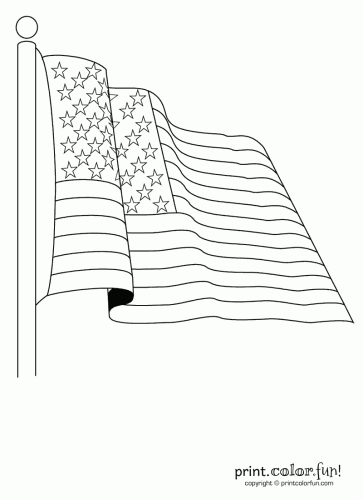 American flag coloring page - Print. Color. Fun!